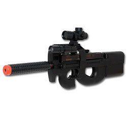 Well P90 Laser Red Dot Airsoft Electric Gun AEG   D90H