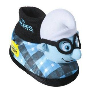 Boys Plush Blue Smurf Slippers Sock Top House Shoes Brainy: Shoes