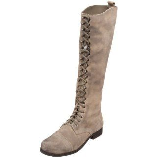 Steve Madden Womens Abee Knee High Boot,Taupe Suede,6.5 M US Shoes
