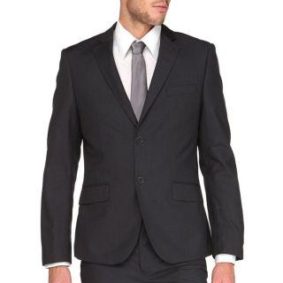 Modèle Eliot   Coloris : noir. Costume 2 pièces, veste col tailleur