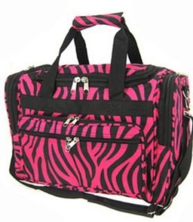Zebra Hot Pink Black Trim Duffel Gym Cheer Dance Bag 22 Clothing