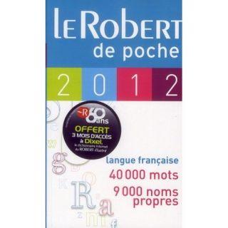 DICTIONNAIRE LE ROBERT DE POCHE (EDITION 2012)   Achat / Vente livre