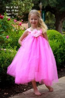 Hot Pink Flower Girl Dress For Weddings Tutu Dress for