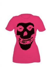 Misfits Fiend Skull Pink Girls T Shirt Plus Size Size : XX