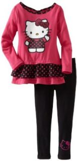 Hello Kitty Girls 2 6X Ruffle Legging Set With Polka Dot