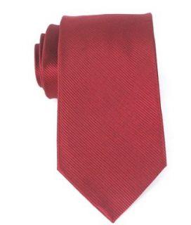 Bruno Piattelli Mens Red Solid Stripe Woven Silk Neck Tie