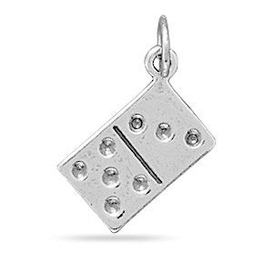 Sterling Silver Reversible Domino Charm West Coast
