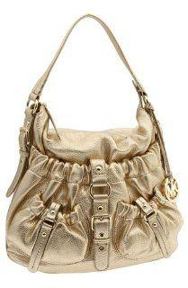 Michael Kors Jennings Medium Hobo Shoulder Bag Gold Shoes