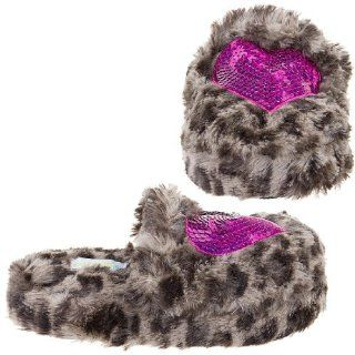Scuff With Sequins Heart Girls Indoor Slipper Pink Combo 3/4 Shoes