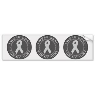 Ribbon Bumper Stickers, Brain Cancer Ribbon Bumper Sticker Designs