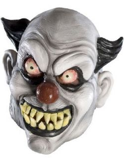 New Adults Psycho Scary Evil Clown Vinyl Costume Mask
