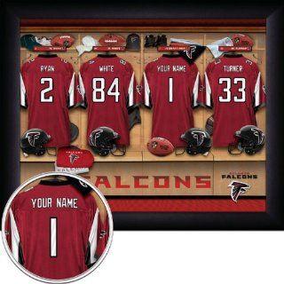 Atlanta Falcons Personalized Locker Room Print Sports