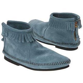 Kids Back Zipper Boot Tod/Pre (Storm Blue Suede 7.0 M) Shoes