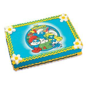 The Smurfs Edible Image Cake Topper: Kitchen & Dining