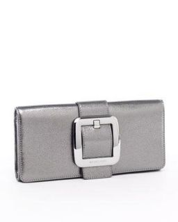 Michael Kors Sutton Gunmetal Leather Clutch Clothing