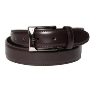 Silver Buckle 1.2 Inch Brown Belt by Landes Size 32: Clothing