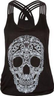 FULL TILT Skull Quadruple Strap Womens Tank Clothing