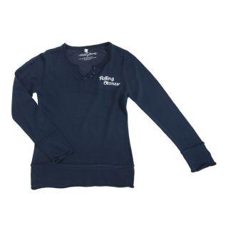 ROLLING STONES T shirt Manches Longues Bleu Bleu   Achat / Vente PULL