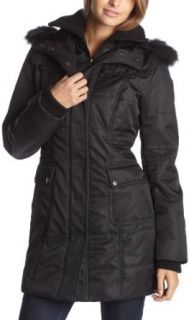 Jessica Simpson Womens Bonded Jacket With Zip Closure