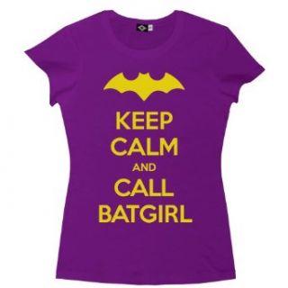 Hank Player Keep Calm & Call Batgirl Womens T Shirt