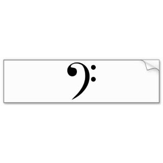 Bass Clef Bumper Sticker