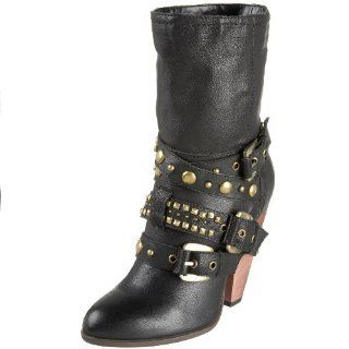 N.Y.L.A. Womens Sheree Boot,Black,5.5 M US Shoes