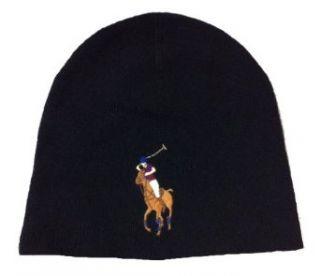 Polo Ralph Lauren Big Pony Beanie Hat Skull Cap Black