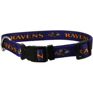 Baltimore Ravens Adjustable Pet Dog Collar (Small) Sports