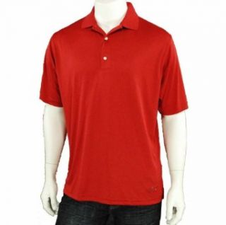 Greg Norman Play Dry Short Sleeve Shirt Red Medium Sports