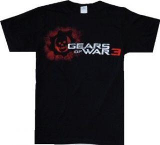Gears of War 3 Crimson Omen Black T Shirt Clothing