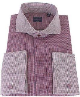 Check French Cuff 100% Cotton Dress Shirt   Size 20 36/37 Clothing