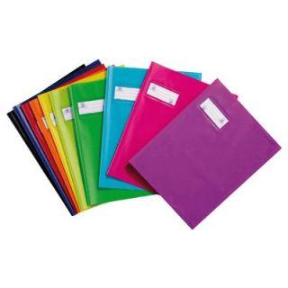 Protege cahier standard 17x22 bleu roi   Protège cahier écolier