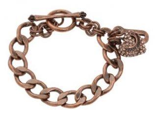 Juicy Couture Rose Gold Pave Heart Starter Bracelet