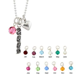 Charming Life Sterling Silver Graduation Charm Necklace
