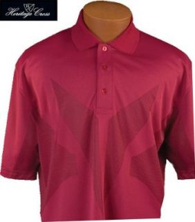 Heritage Cross 1020 Polo Style Moisture Wicking Mens Golf