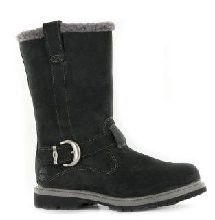 Timberland Nellie Pull On Black Leather Womens Boots Shoes