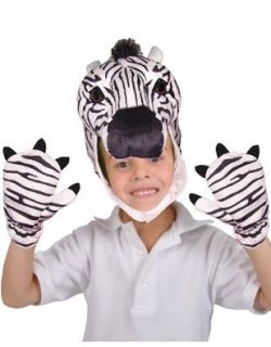 Child Costume Accessory Zebra Cap and Paws Set Clothing
