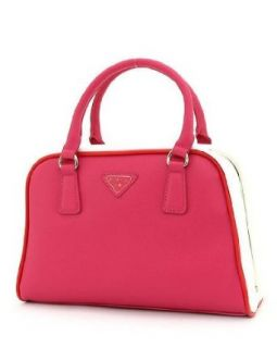 Designer Inspired Luxury Frame Satchel Two Tone Handbag