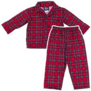 Tom and Jerry Holiday Red Plaid Coat Style Pajamas for