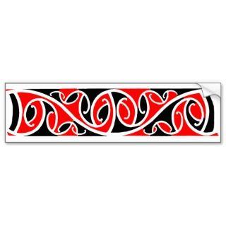 Maori Kowhaiwhai Pattern 6 Sticker Bumper Sticker