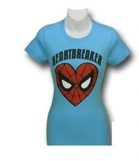 Spiderman Heart Blue Shirt Juniors (Junior   Large