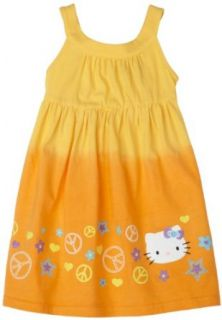 Hello Kitty Girls Cotton Jersey Dress,banana,2t Clothing
