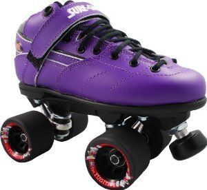 Rebel Fugitive Purple Roller Derby Skates   Black Derby