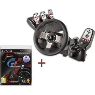 Logitech G27 Racing Wheel + Gran Turismo 5 3D   Achat / Vente VOLANT