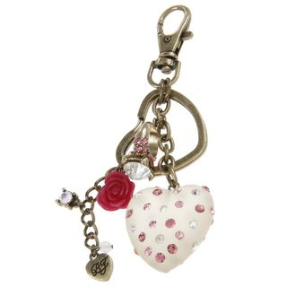 Betsey Johnson Puff Heart Key Chain
