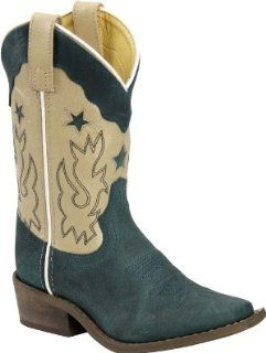 Cowboy Boots 2 Child Green Cream Boys   DH937 Double H Boots Shoes