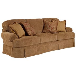 Broyhill McKenna Stucco Beige Sofa and Accent Pillows