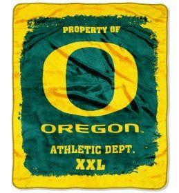 University of Oregon Ducks Fleece Blanket Throw 50x60