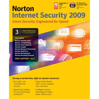 Symantec Norton Internet Security 2009   1 User, 3 PC