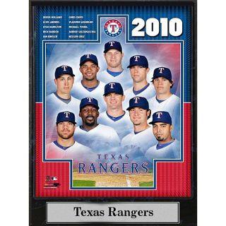 Encore Select 2010 Texas Ranger Team 9x12 Plaque